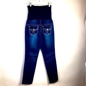 Planet Motherhood Blue Jeans M Full Belly Panel *Q